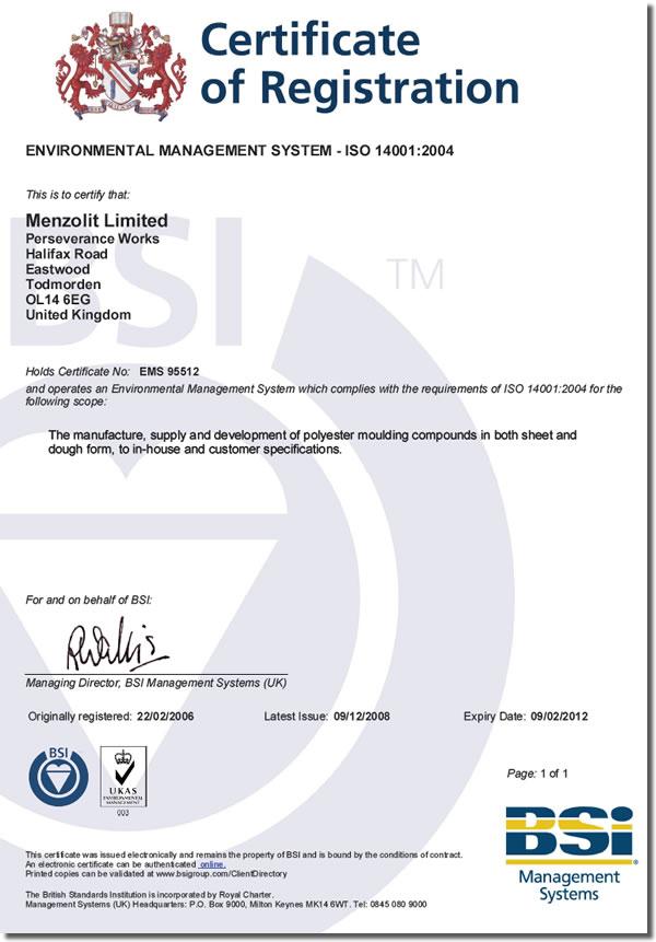 ems certificate iso bsi